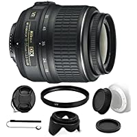 Nikon AF-P DX NIKKOR 18-55mm f/3.5-5.6G VR Lens for Nikon DSLR Cameras and Accessory Bundle