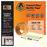 Gorilla 18yd Clear Utility Tape, 12-Pack, 12 Pack