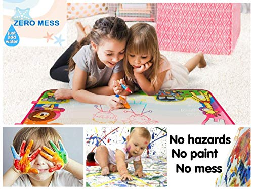 PrimeIRIS Large Water Doodle Mat Aqua Magic Board No Mess Coloring Book for  Toddlers Educational Gift Toys for Children Girls Boys Water Drawing Mat ...