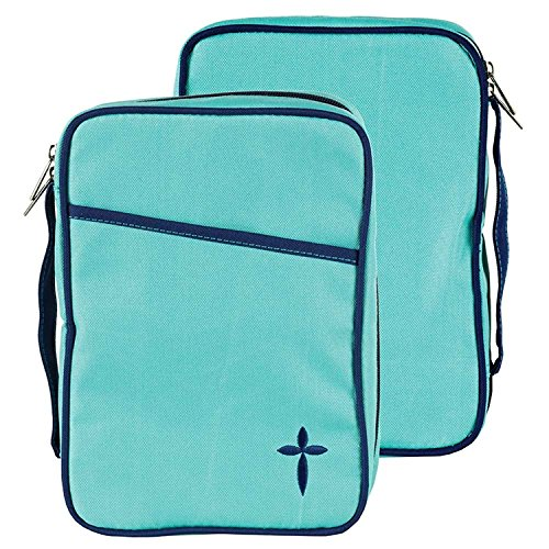 Turquoise Denier Polyester Canvas Bible Cover, Thinline