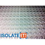 """Isolate It!: Small Clear 5/16"""" (7.9mm) Dia x 0.085"""" (2.2mm) H Round Sound Deadening Cabinet and Furniture Bumpers - 75 Pack"""