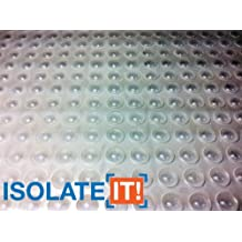 "Isolate It!: Small Clear 5/16"" (7.9mm) Dia x 0.085"" (2.2mm) H Round Sound Deadening Cabinet and Furniture Bumpers - 75 Pack"