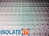 Small Clear 5/16'' (7.9mm) Dia x 0.085'' (2.2mm) H Round Sound Deadening Cabinet and Furniture Bumpers - 5400 Pack