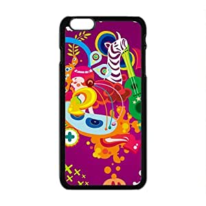Happy Creative Cartoon Animal Pattern Custom Protective Hard Phone Cae For Iphone 6 Plus