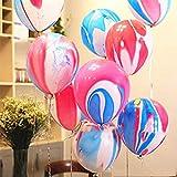 Mayen 50 Pcs 12 Inches Tie Dye Balloons, Rainbow
