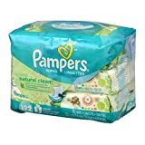 Pampers Wipes Natural Clean Unscented - 192 CT