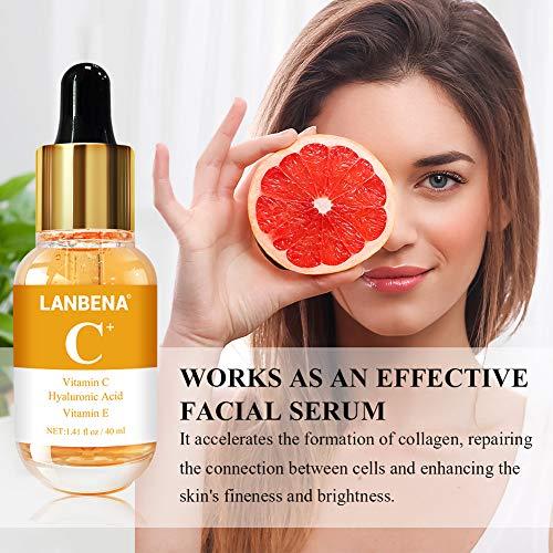 51SW0h9TK%2BL - Vitamin C Serum for Face and Skin - With Hyaluronic Acid, Niacinamide, Retinol - Natural Anti Aging, Anti Wrinkle Serum for Skin Brightening and Moisturizing - 1.37 Fl. Oz