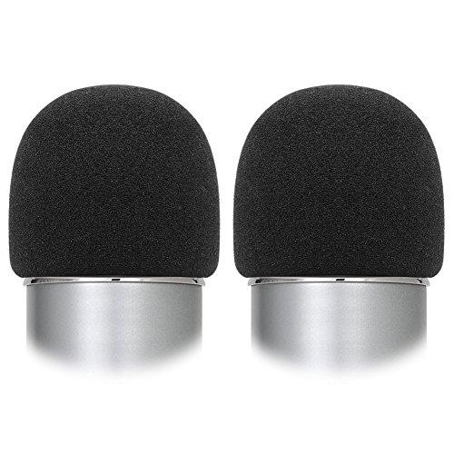 Mic Accessories Windscreens (InnoGear Microphone Windscreen, 2 Pack Mic Foam Cover Sponge Windshield for Blue Yeti and Other Standard Handheld Microphones, Black)