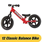 Strider - 12 Classic No-Pedal Balance Bike, Ages 18 Months to 3 Years, Red