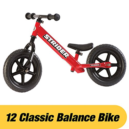Strider - 12 Classic Balance Bike, Ages 18 Months to 3 Years, Red