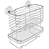 Best Power Showers - InterDesign Lineo Power Lock Bathroom Shower Caddy Basket Review