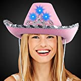 LED Pink Cowboy Hat