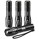 Pack of 4 Tactical Flashlights
