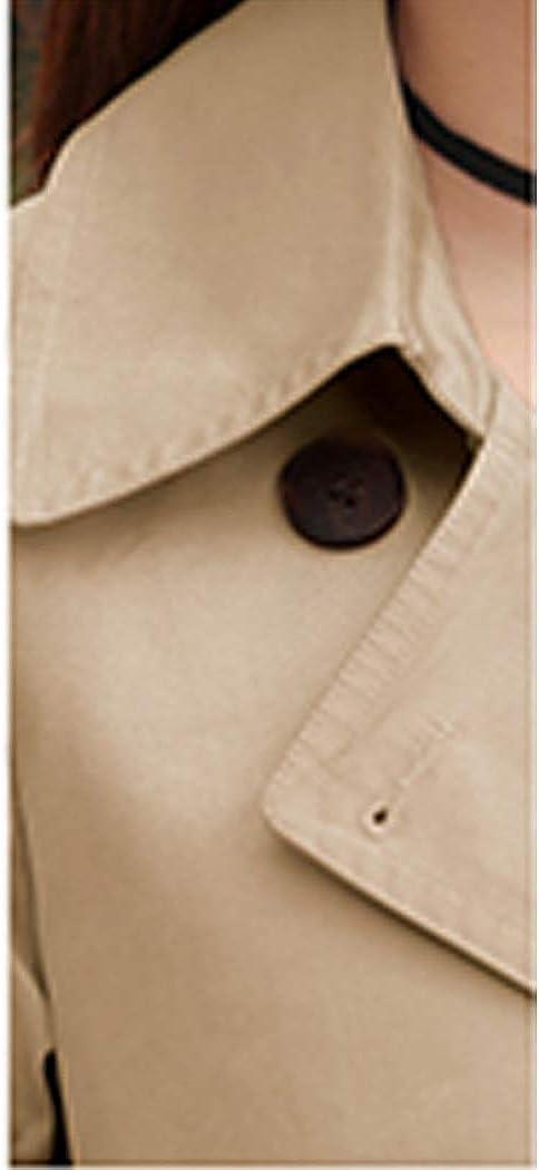 HANMAX Damen Klassischer Trenchcoat Elegante Mantel /Übergangs Jacke Doppelten Trenchcoat