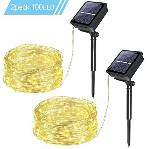 Great Solar Lights and there are 2 to a pack!