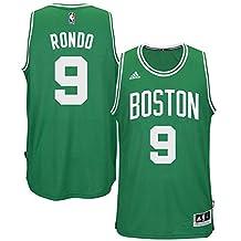9 Rajon Rondo Boston Celtics Mens Road Swingman Jersey Kelly Green color Size L