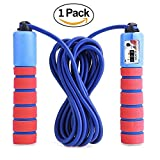 KINGSOO Adjustable Jump Rope with Counter for