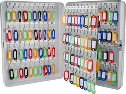 BARSKA 160 Position Key Lock Box with Key Lock, Grey