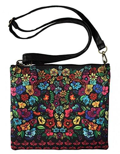 Decodelire Women's Top-Handle Bag Multicolour Noir, fleuri