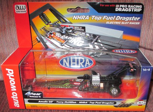 #SC263/48-1 Auto World NHRA Top Fuel Dragster Amalie Oil Terry McMillen Electric Slot Car