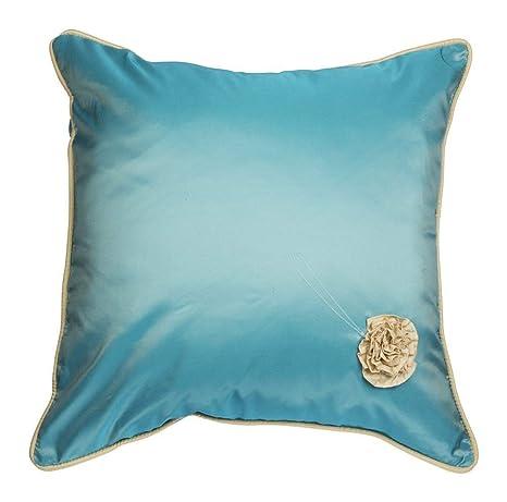 Funda cojín Georgette de tafetán Made in Italy azul: Amazon ...