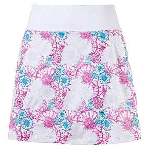 Puma Golf Women's 2019 Pwrshape Blossom Skirt, Bright White-Fuchsia Purple, Large