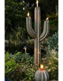 Desert Steel Saguaro Cactus - Tiki Torch Steel Art – Stands 6.5 Ft. Tall