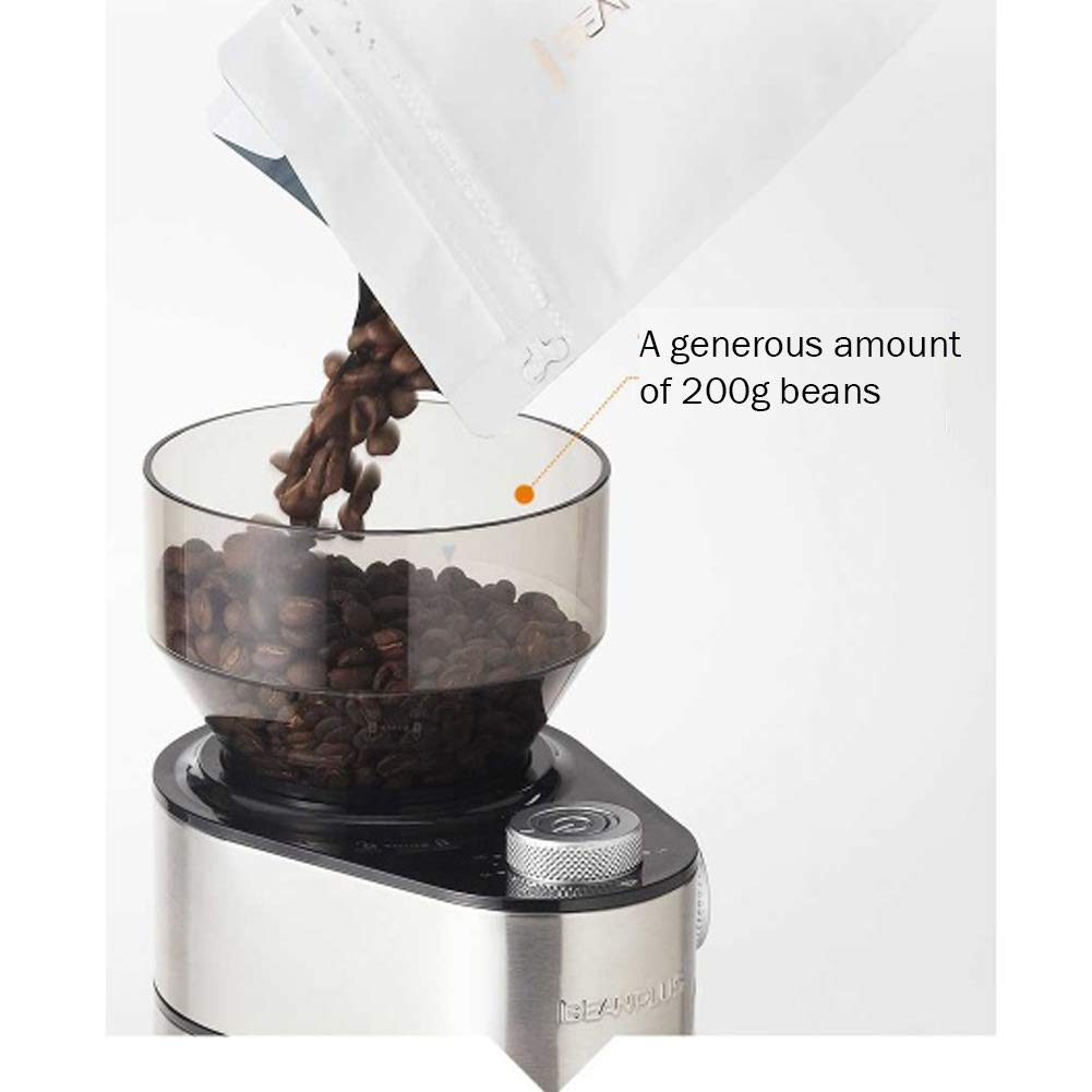 BEANPLUS BCG-200 Flat Burr Electric Coffee Grinder Coffee Bean Grinding Mill 220V by [BEANPLUSOEM] (Image #3)