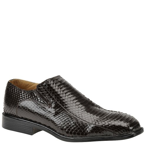 Giorgio Brutini Men's Plain-Toe Gored Snakeskin Slip-On Shoes Brown 11 W Mens Giorgio Brutini Plain Toe