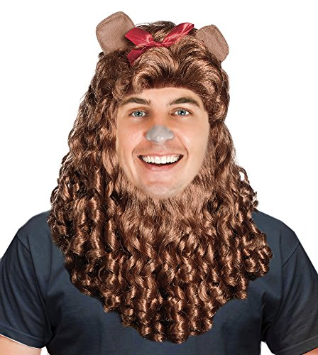 Lion Costume Wig Cowardly Costume Lion Mane Cowardly Wig Simba Costume Wig Brown]()