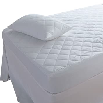 Highliving Quilted Mattress Protector Extra Deep All Sizes Bunk