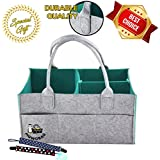 PigwoBag Baby Diaper Caddy Organizer | Portable Diaper Storage for Baby Diapers, Toys, Wipes, Clothes & Nursery Storage Bin | Large Unisex Tote Storage Basket | Great Baby Shower & Registry Gift