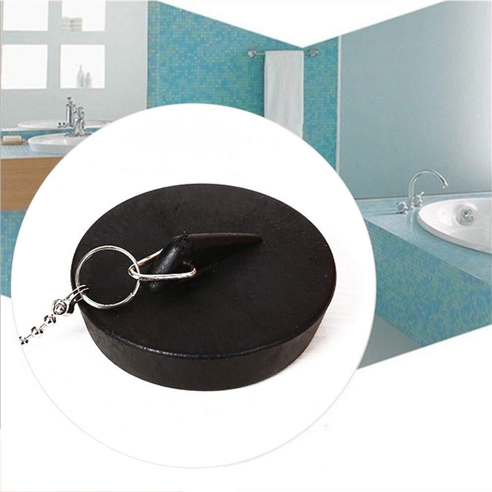 Bouchon de salle de bain pour lavabo de piscine durable avec cha/îne de lavabo Outil mignon facile /à utiliser anti-fuite l/éger en caoutchouc souple joint de cuisine free size Voir image