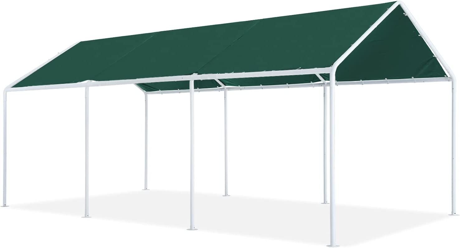 ABCCANOPY 10x20 FT Carport Garage Car Canopy Boat Shelter Party Tent,Forest Green