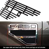 APS Compatible with 2008-2010 Ford F250 F350 F450 F550 Black Side Vent Grille Grill Insert F65542H