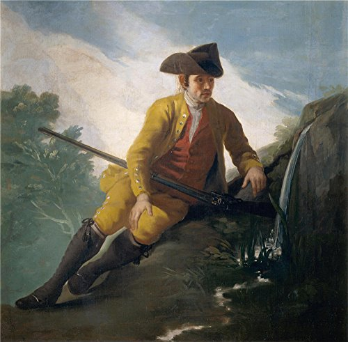 High Quality Polyster Canvas ,the High Definition Art Decorative Canvas Prints Of Oil Painting 'Goya Y Lucientes Francisco De Hunter Beside A Spring 1786 88 ', 24 X 24 Inch / 61 X 62 Cm Is Best For Home Office Artwork And Home Artwork And Gifts