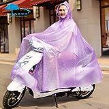 男女兼用 レインコート 大きさと厚みを増加ファッション 耐磨耗性環境に優しいクリスタルPVC 漏れ止め翻りにくい 収納袋付 旅行 通勤 通学 雨具 雨の日に自転車不可欠のシングルレインコート