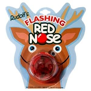 Rudolf's Holiday FLASHING REINDEER NOSE