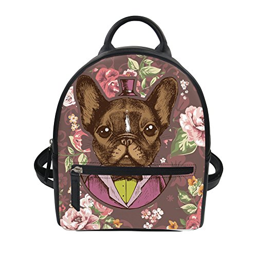 Leather Ipad Girl for Casual HUGS Buldog2 Yorkie Mini IDEA Shoulder Backpack Knapsack Pattern Small PU Terrier Bag pz4Tzqwx8