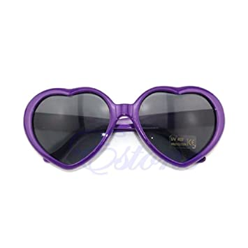 8782059388 Image Unavailable. Image not available for. Color  Hukai Vintage Retro 10  Color Men Women New Fashion Lolita Heart Shaped Love Sunglasses ...