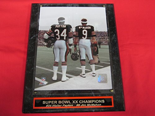 Jim Mcmahon Chicago Bears - Walter Payton Jim McMahon Chicago Bears Collector Plaque w/8x10 Photo BEST SELLER