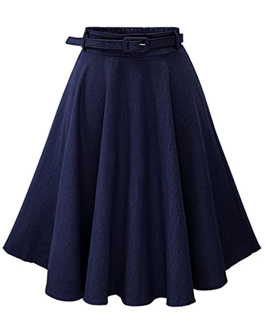 ZhuiKun Mujer Faldas Vaquera Cintura Alta Falda Plisada Corto Vestidos de Fiesta Azul Oscuro: Amazon.es: Ropa y accesorios