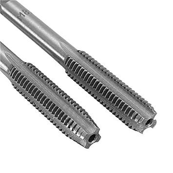 M3x0.5 Hitommy 2Pcs M3 to M12 Industrial Metric HSS Right Hand Thread Tap Drill Bits Plug Taps Drill Bits