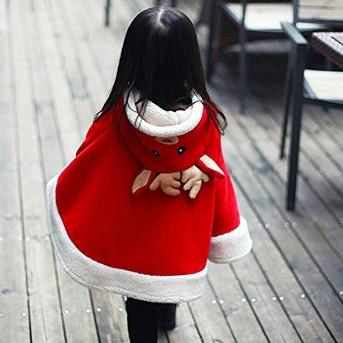 Butterme bambini Bambini Neonati bambini adorabili Renna vestiti con cappuccio del Capo Mantello Poncho con cappuccio del cappotto tuta sportiva rossa