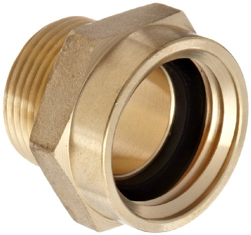 Moon 357-1021061 Brass Fire Hose Adapter, Nipple, 1