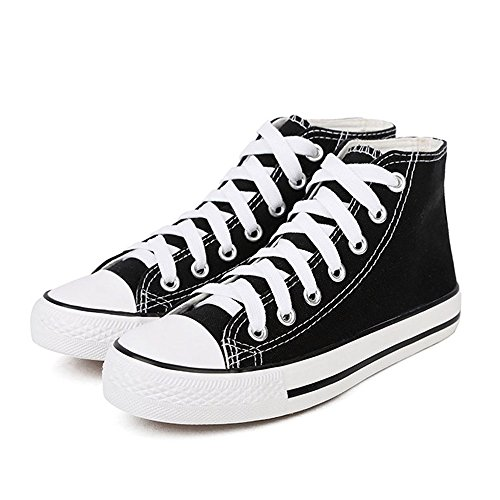 Women's Fashion Sneakers Shoes with High Cut (Black) - 3