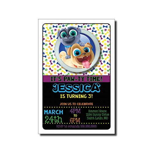 y Invitation - Puppy Dog Pals, Personalized (20 count) ()