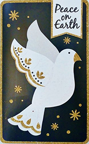 Peace On Earth and Goodwill Toward Men! Have a Very Merry Christmas Greeting Card w/ White Dove