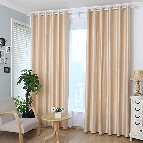 MinminTown(TM) Solid color thicker linen copy curtains Environmental full blackout curtains Factory outlets (Outlet Curtain Factory)