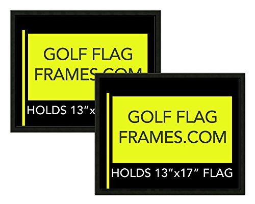 Two Pack of 16x20 Black Golf Flag Frames, Moulding blk-001, Reversible Green-Black Mat (holds 13x17 Masters Golf Flag, Flag Not Incl) by Golf Flag Frames